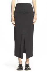 And Re Walker Wool And Silk Long Skirt Black