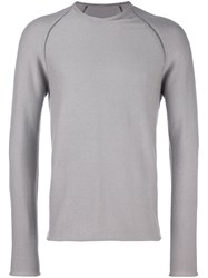 Label Under Construction Crew Neck Sweater Grey
