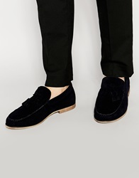New Look Tassel Loafers In Faux Leather Navy