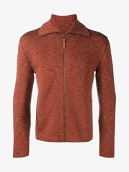 Missoni Knitted Wool Pullover Red Cinnamon Beige White Denim