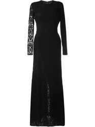 Fausto Puglisi Lace Panel Dress Black