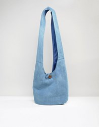 South Beach Slouch Chambray Bag Navy