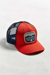 Patagonia Pointed West Trucker Hat Bright Red
