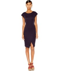 Bar Iii Ribbed Envelope Dress Only At Macy's Dark Prune