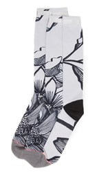 Stance Everyday 200 Lined Leaves Socks Grey