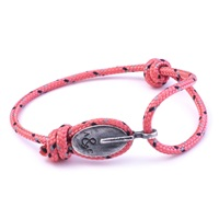 Anchor And Crew All Pink London Rope Bracelet Pink Purple