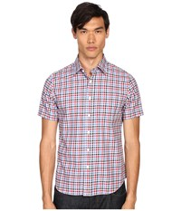 Jack Spade Clift Short Sleeve Point Collar Shirt Red Men's Short Sleeve Button Up