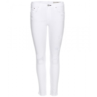 Rag And Bone Zipper Capri Skinny Jeans Bright White Summer
