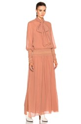 See By Chloe Long Sleeve Maxi Dress In Pink