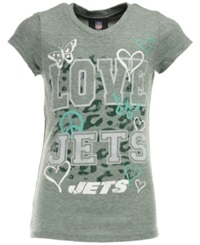 5Th And Ocean Girls' New York Jets Sleeve Stripe T Shirt