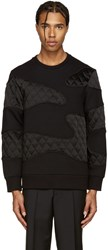 Neil Barrett Black Quilted Camo Pullover