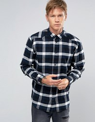 Weekday Lumber Check Flannel Shirt 76 230 Navy Check