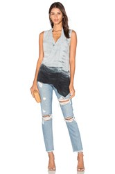 Michael Stars Asymmetric Shell Top Grey