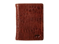 Will Leather Goods Flip Front Pocket Cognac Stone Wallet Brown