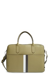 Ben Minkoff 'Fulton' Saffiano Leather Briefcase Striped Army Green
