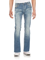 Affliction Ace Distressed Straight Leg Jeans Monterey