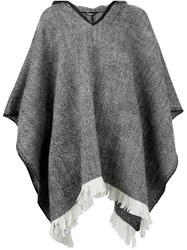 Dolce And Gabbana Hooded Poncho Grey