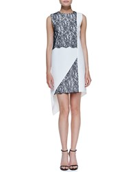 Robert Rodriguez Geo Lace Two Tone Dress Women's
