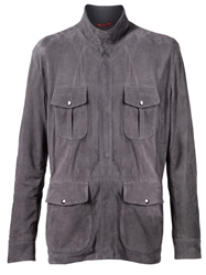 Isaia Military Jacket Grey