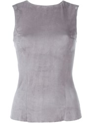 Drome Leather Tank Grey