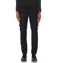 Comme Des Garcons Studded Wool Trousers Black