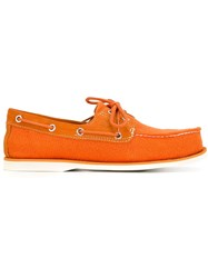 Timberland Monochrome Moccasin Loafers Yellow And Orange