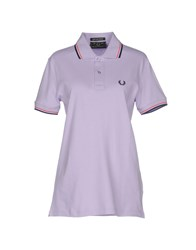 Fred Perry Topwear Polo Shirts Women Lilac