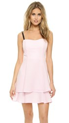 Nanette Lepore Tie Back Tier Dress Pearl Pink