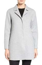 Eileen Fisher Women's Brushed Wool Blend Double Face Notch Collar Coat