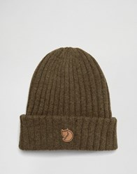 Fjall Raven Fjallraven Byron Wool Beanie In Olive Green