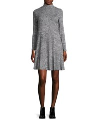 Ivanka Trump Long Sleeved Turtleneck Dress Black White