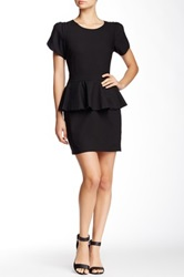 Vertigo Short Sleeve Peplum Dress Black