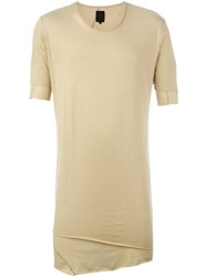 Thom Krom Long Layered T Shirt Nude And Neutrals