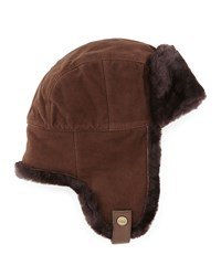 Ugg Shearling Trapper Hat Chocolate