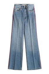 Marc By Marc Jacobs Cropped Wide Leg Jeans Blue