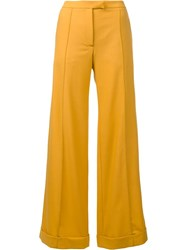 Nina Ricci Tailored Palazzo Pants Yellow Orange