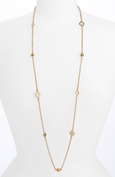 'Classic Marc' Long Necklace Cream Gold