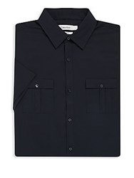 Calvin Klein Solid Short Sleeve Dress Shirt Black