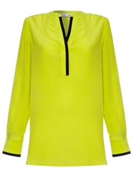 Damsel In A Dress Signature Blouse Chartreuse