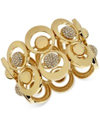 Inc International Concepts M. Haskell For Gold Tone Circle And Crystal Fireball Stretch Bracelet Only At Macy's