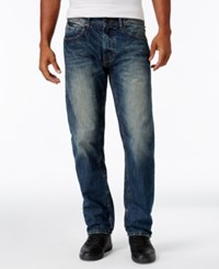 Sean John Men's Bedford Flap Pocket Jeans Marble Wash