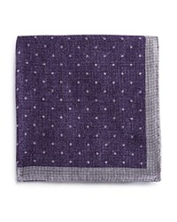 Bloomingdale's The Men's Store At Small Dot Pocket Square Purple