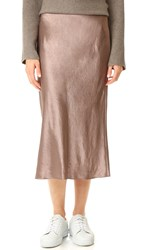 Vince Satin Flare Skirt Coffee
