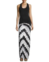 Young Fabulous And Broke Young Fabulous And Broke Hamptons Racerback Tie Dye Maxi Dress Black Chevron Stripe