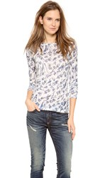 Rag And Bone The Burnout Long Sleeve Tee Winter Blue