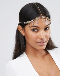 Asos Statement Jewel Hair Crown Crystal Clear