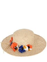 Patrizia Fabri Straw Hat With Floral Hatband