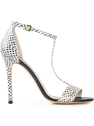 Alberto Guardiani T Bar Stiletto Sandals White
