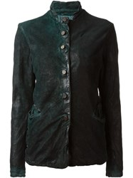 Giorgio Brato Distressed Leather Jacket Green