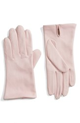 Fownes Brothers Women's Short Leather Gloves Light Pink